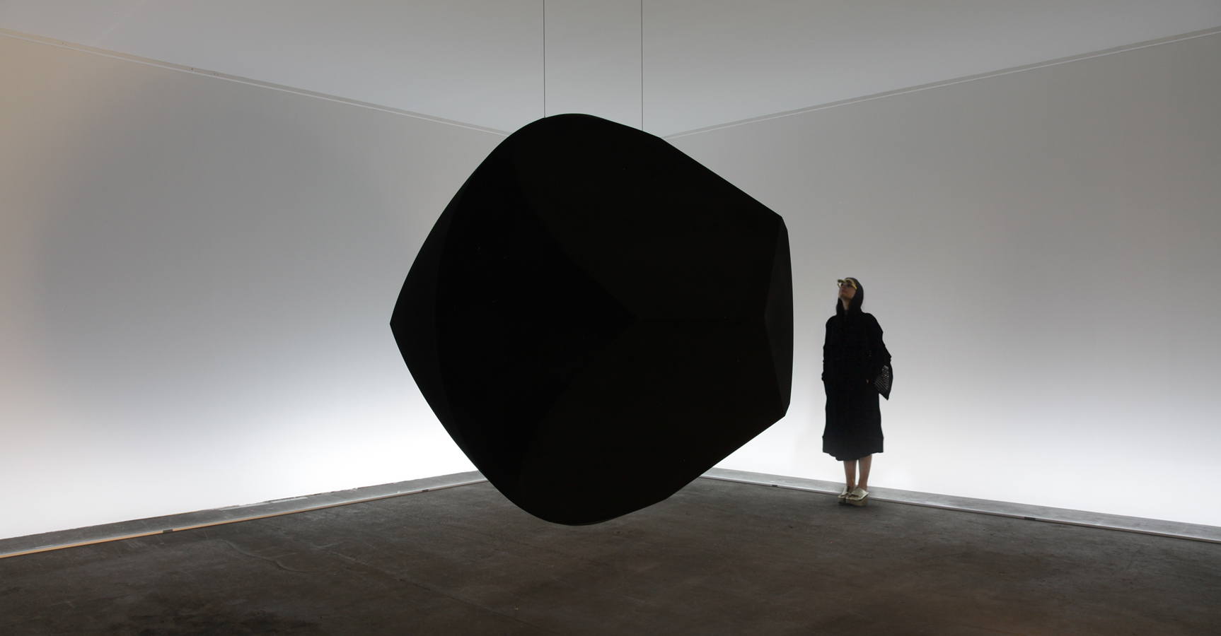 'Dark Matter', Sculpture on points of view and relativity, Unlimited Art Basel, Troika  (Conny Freyer, Eva Rucki, Sebastien Noel)