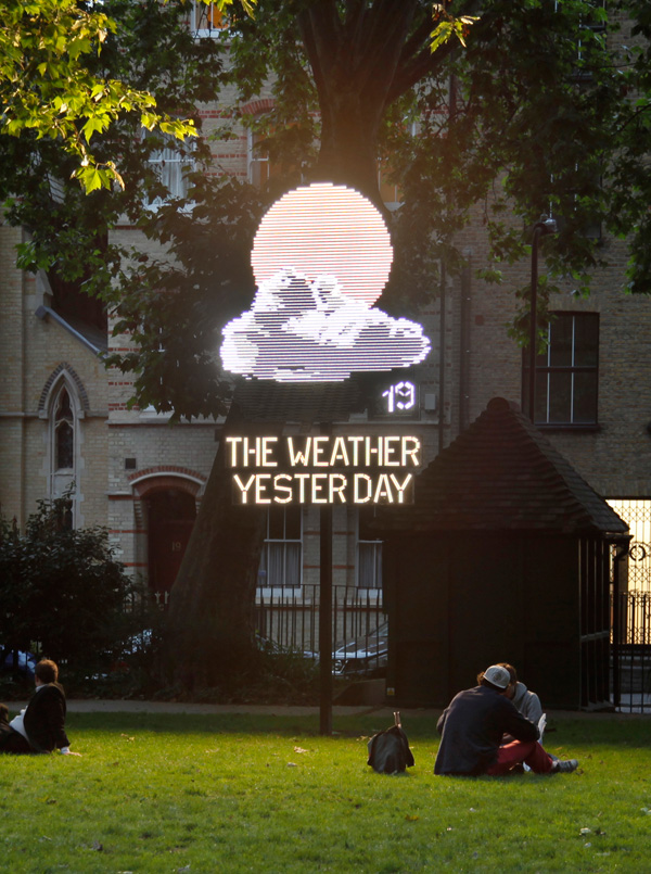 'The Weather Yesterday', 2012 | Troika (Eva Rucki, Sebastien Noel, Conny Freyer)