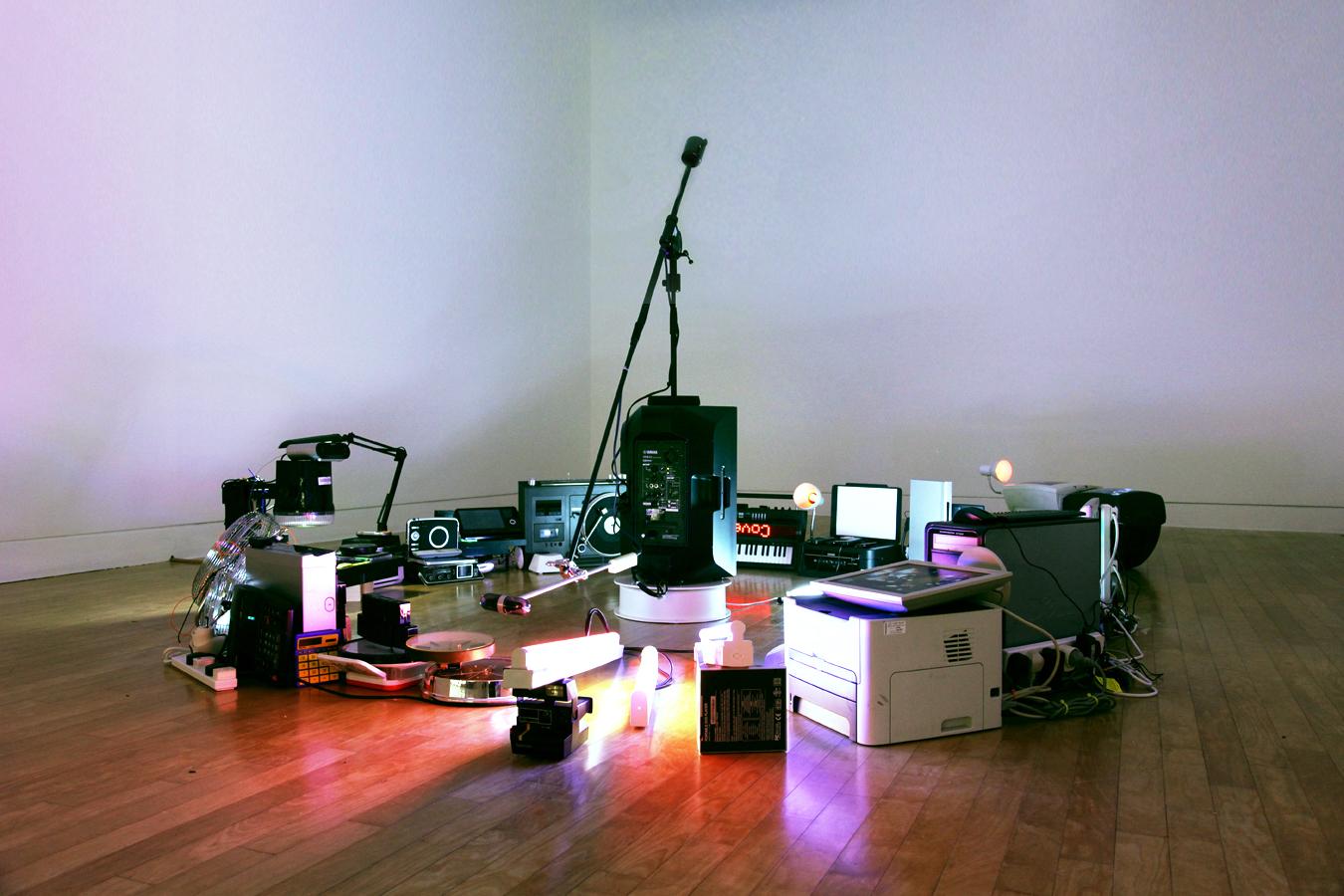 Electroprobe Installation #5, 2014 | Troika (Conny Freyer, Eva Rucki, Sebastien Noel)