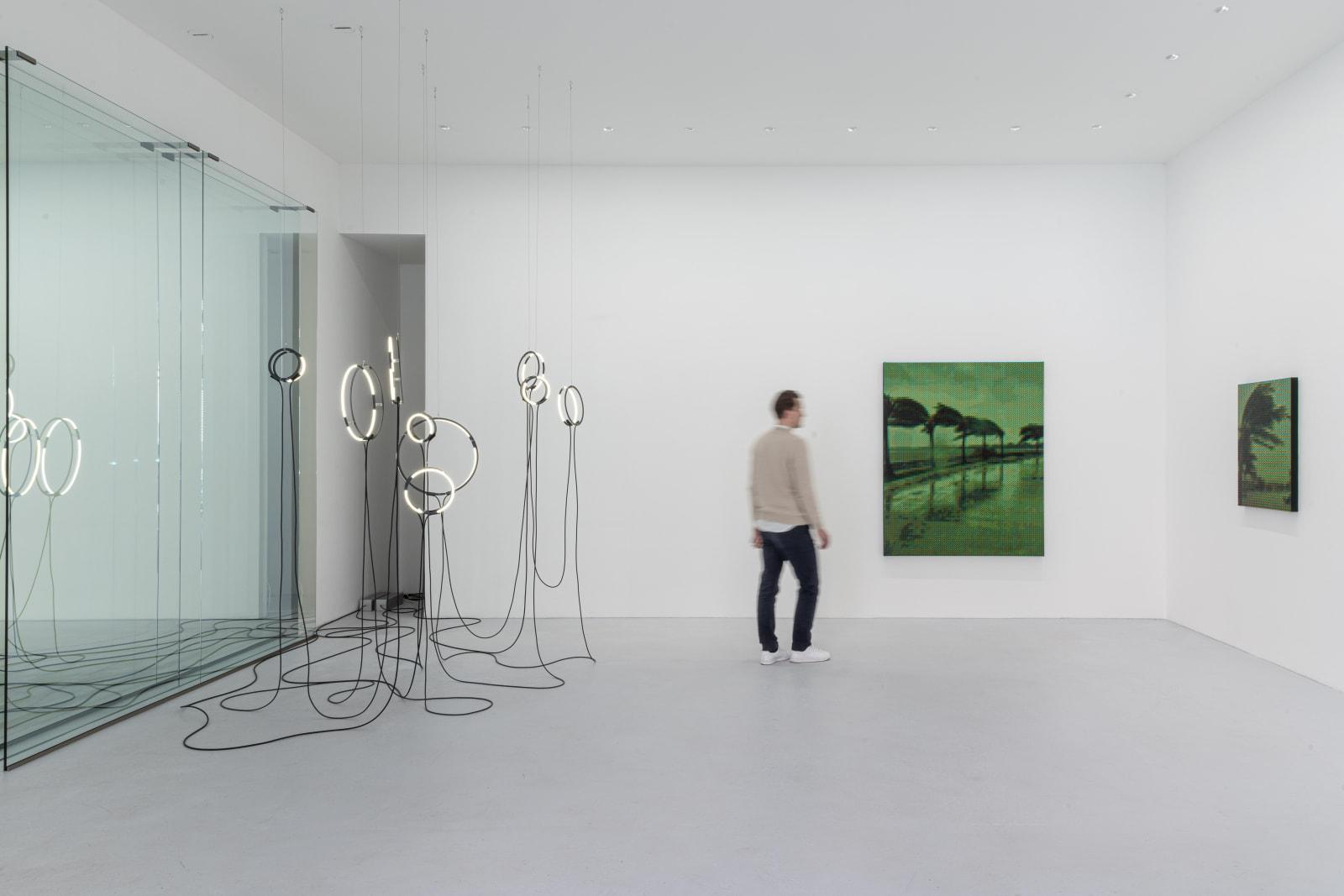 Installation view | poetics of reality (encoded) | brigitte kowanz and troika | max goelitz 2021 | Photo: Dirk Tacke