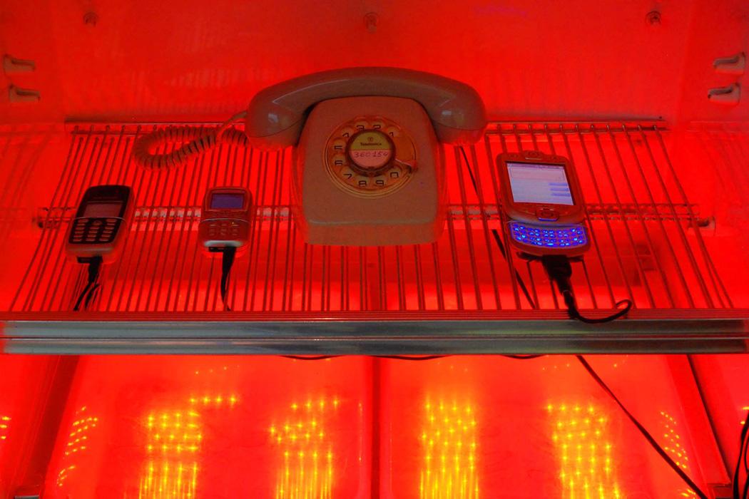 'Electroprobe Installation', 2008   Troika (Eva Rucki, Sebastien Noel, Conny Freyer)