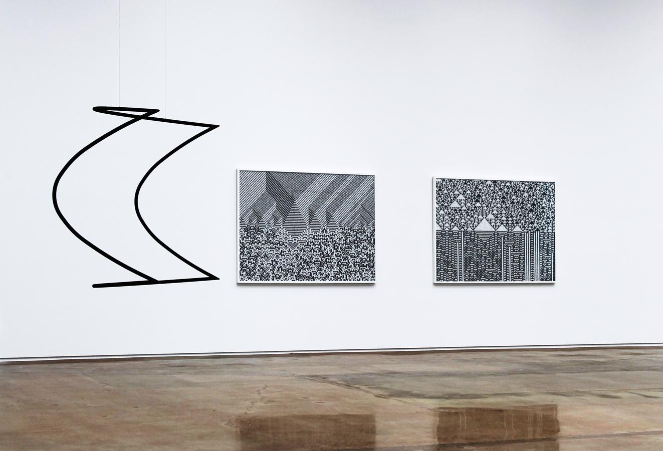 'Cartography of Control', Installation View, Kohn Gallery, 2015 | Troika (Conny Freyer, Eva Rucki, Sebastien Noel)