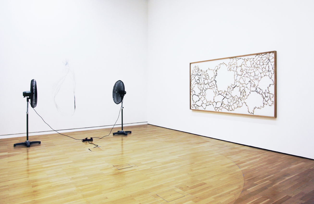'Walk the Line: New Paths in Drawing', Installation View, Kunstmuseum Wolfsburg, 2015 | Troika (Conny Freyer, Eva Rucki, Sebastien Noel)