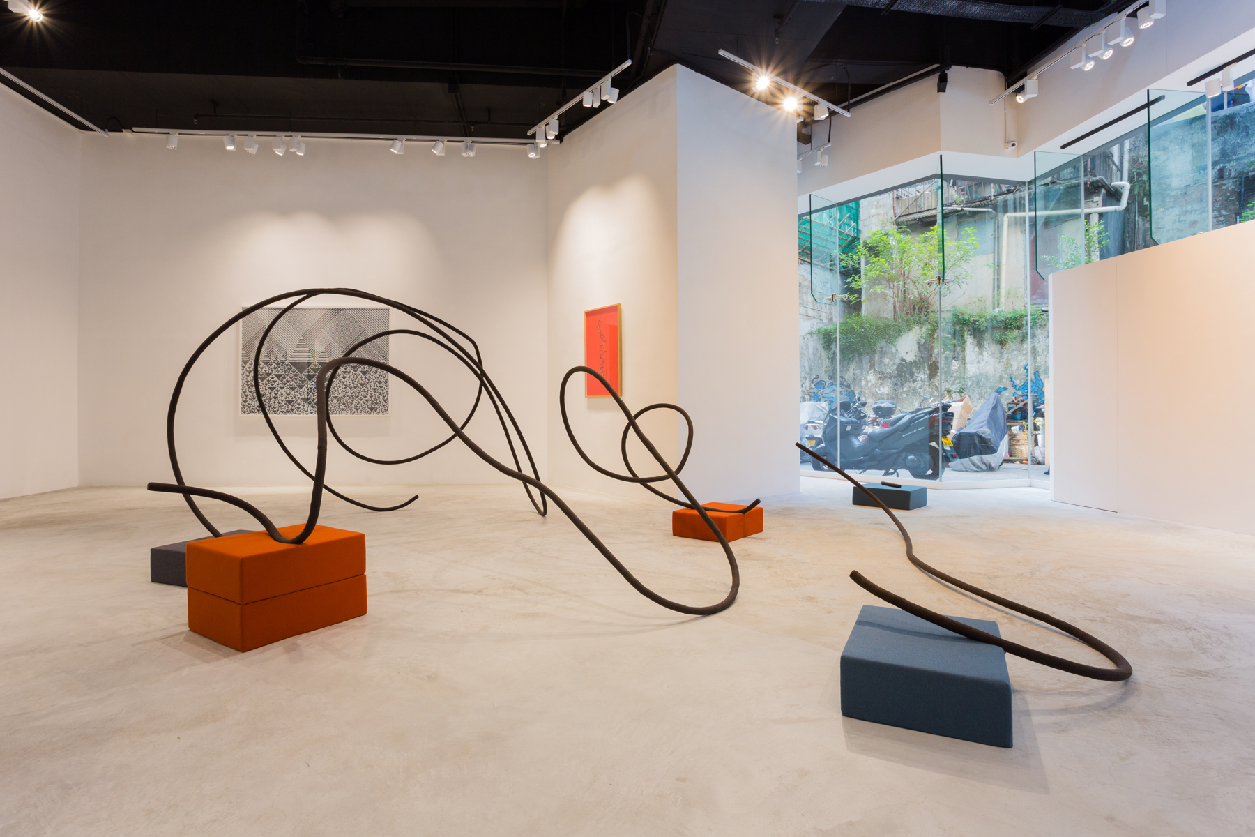 'A Point of Signification', Installation View at Galerie Huit, 2015 | Troika (Conny Freyer, Eva Rucki, Sebastien Noel)