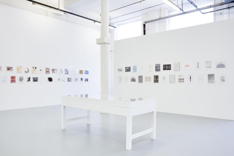 'Drawing Biennial 2015', Installation View, Drawing Room, 2015, Photo: Dan Weill | Troika (Conny Freyer, Eva Rucki, Sebastien Noel)