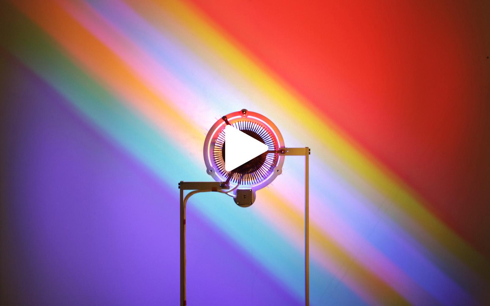'All Colours White', Light Installation, Troika (Conny Freyer, Seb Noel, Eva Rucki)